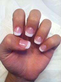 French Tip Acrylic | Acrylic Love | Pinterest | Short ...