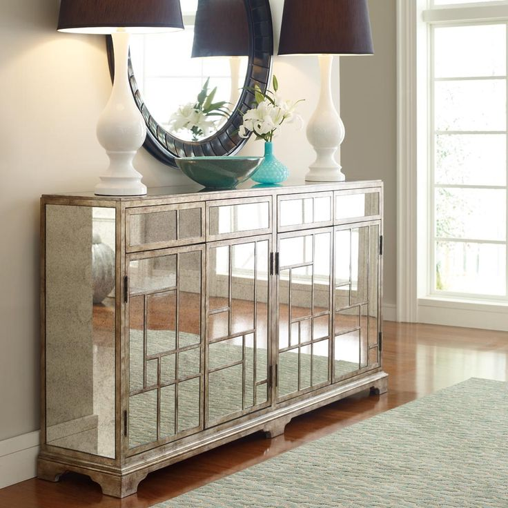 Accents Antique Mirror Credenza Dream Home Pinterest