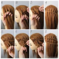Dutch three strand ladder braids, check out the step as ...