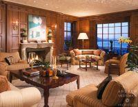 Wood paneled Living Room. Photographer: Matthew Millman ...