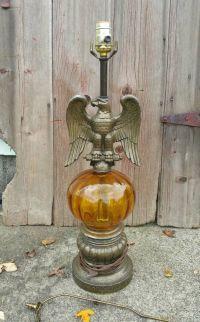 Vintage Eagle Lamp, Mid Century Eagle Lamp, Americana