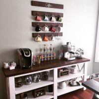 DIY Coffee Bar from plan http://ana-white.com/2012/05 ...