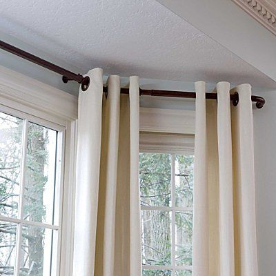 38 Best Images About Bay Window Ideas Curtains And Rods On