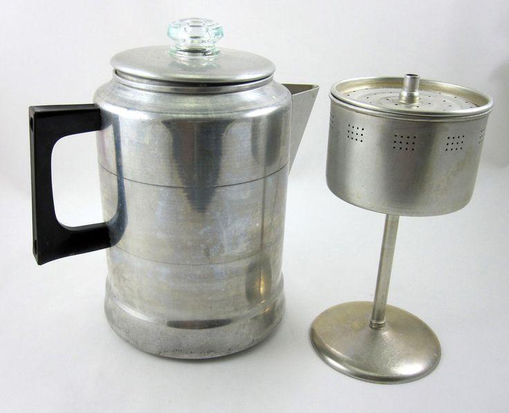 Comet Aluminum Coffee Pot 9 Cup Vintage Stovetop