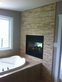 travertine fireplace | Basement Remodel | Pinterest | We ...