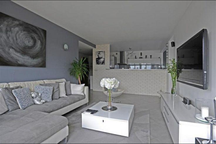 Salon gris blanc  salon en grises  Pinterest  Salon gris and Salons