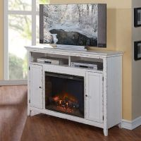 Brookside Fireplace Console / TV Stand in Distressed ...