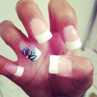 25+ best ideas about French tip acrylics on Pinterest ...