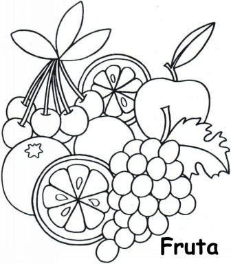 17 Best ideas about Frutas Para Colorear on Pinterest