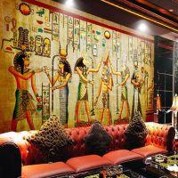 Egyptian Wall painting Vintage Photo Wallpaper Custom 3D ...
