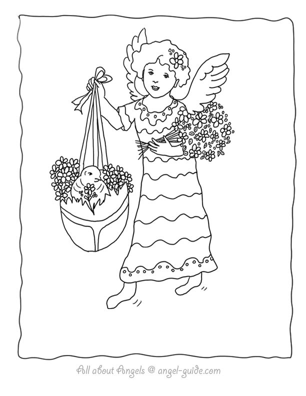 1000+ images about ♥ Angel Drawings to Color on Pinterest