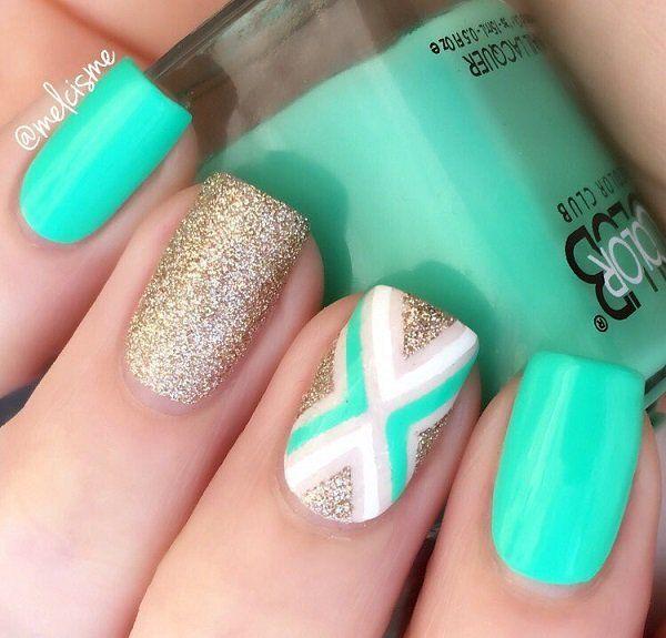 Best 20+ Teal nail designs ideas on Pinterest