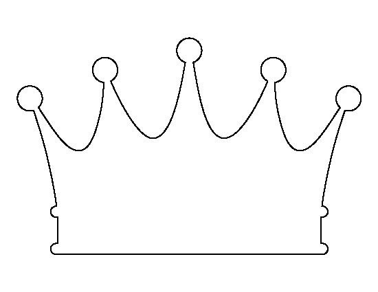 Crown pattern. Use the printable outline for crafts