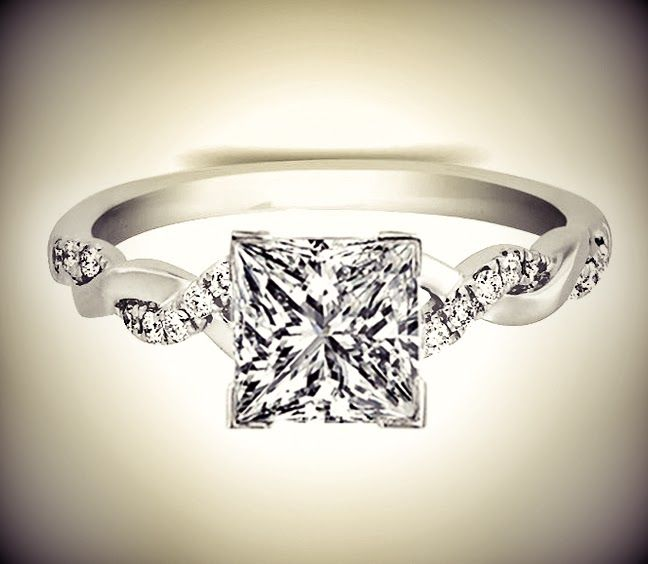 Best 20 Square Engagement Rings ideas on Pinterest  Square wedding rings Square cut diamond