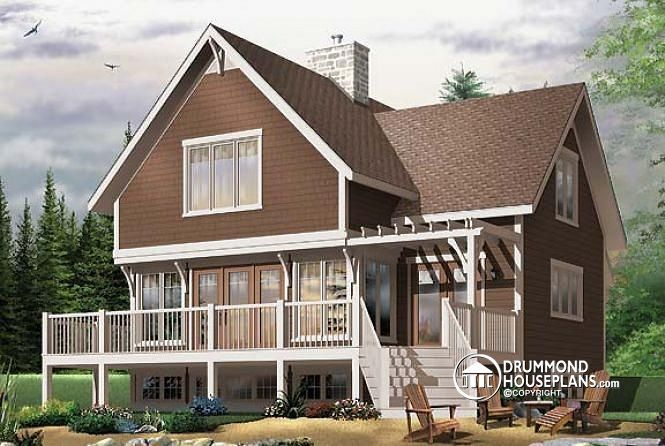 Stunning A Frame 4 Bedroom Cottage House Plan Drummond House Plans