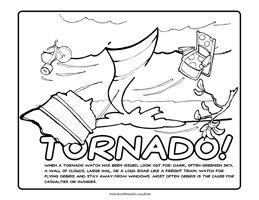 Tornado Coloring Pages Printable
