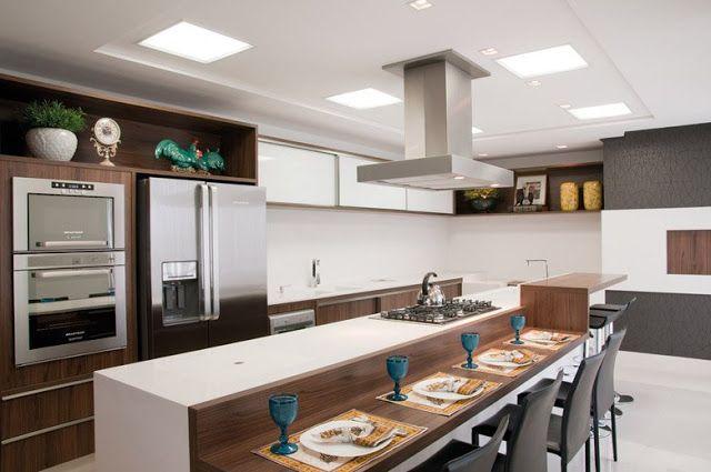 20 Cozinhas Com Churrasqueiras Modernas Veja Modelos E Dicas Para Ter Um Espao Gourmet Dentro