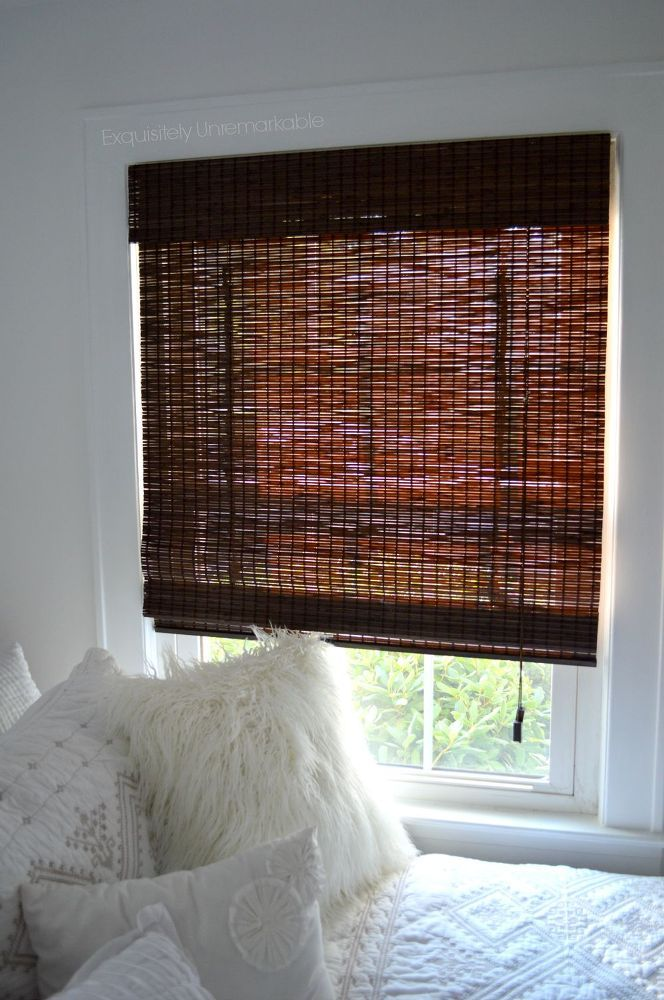Diy Privacy Liner For Bamboo Roman Shades Bedroom Ideas