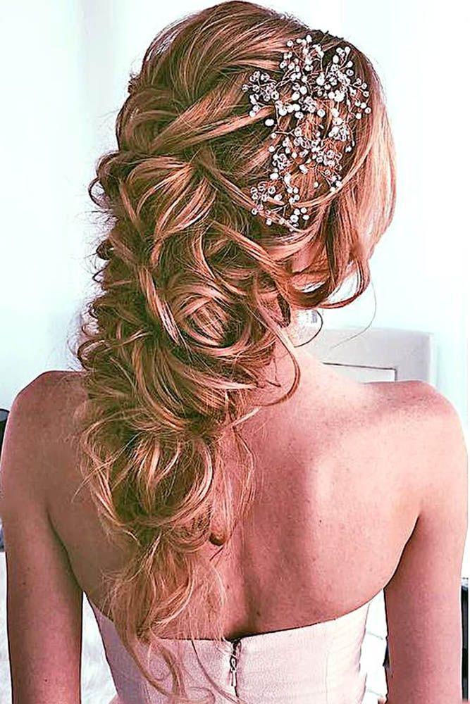 39 Best Wedding Hairstyles For Long Hair  Wedding bride