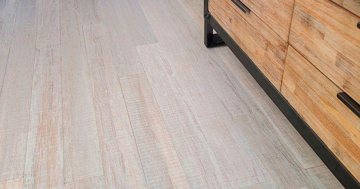 Rustic Beachwood Bamboo Hardwood Flooring Strand Woven