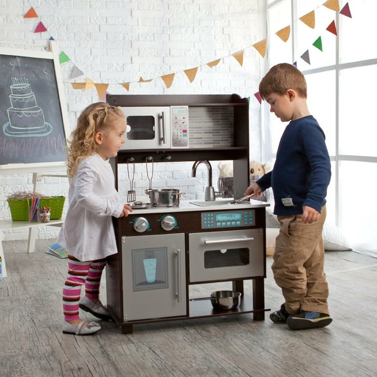 Toddler play kitchen Toddler play and Play kitchens on