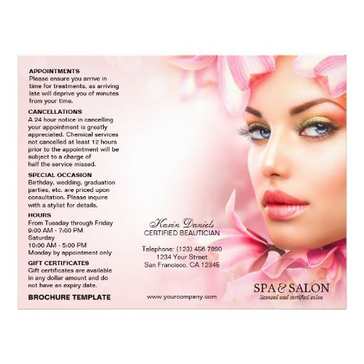 89 Best Images About Spa And Salon Flyers Brochures