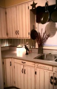 Rustic kitchen -tin backsplash | For the Home | Pinterest ...