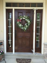 Gel stained fiberglass door, I used old masters gel stain ...