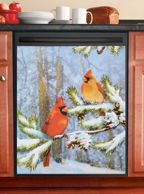 Cardinals In Snow Kitchen Dishwasher Magnet Discover More Ideas About Dishwasher Magnet And