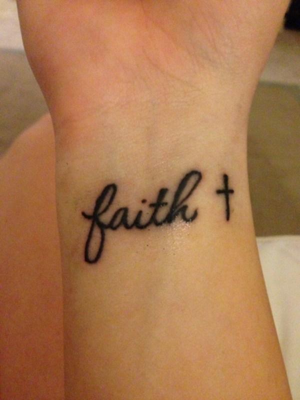 faith cross tattoo tattoos