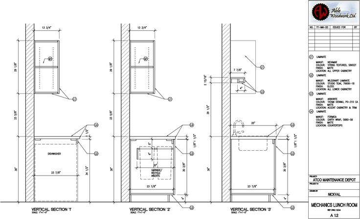 HW#12:MIllwork/Casework Sections: a collection of ideas to