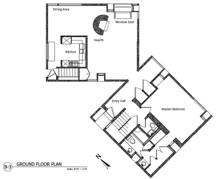 Plans of Architecture (Louis Kahn, Fisher House, 1960-1967