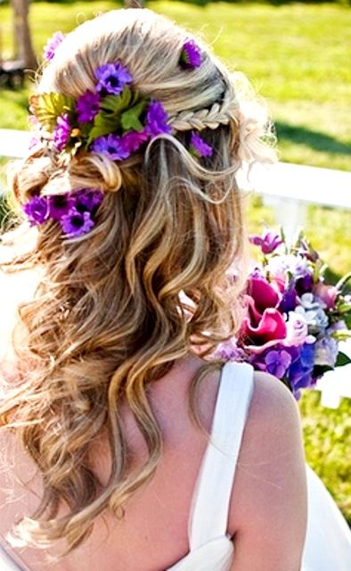 25 Best Ideas About Half Up Wedding On Pinterest