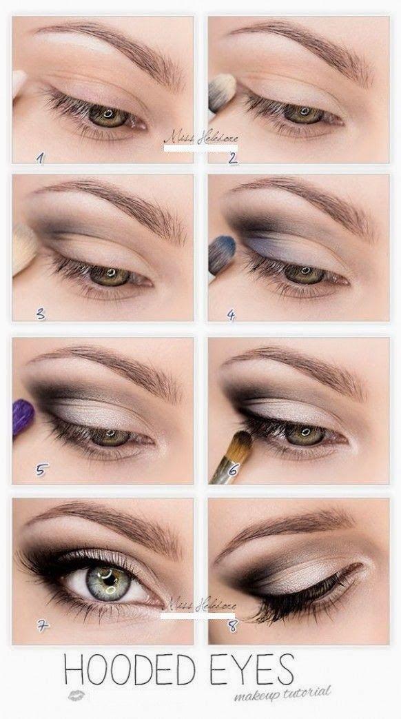 Hooded eyes makeup tutorial. Get al