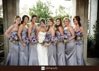 Gray Bridesmaid Dresses With Purple Flowers | www.pixshark ...