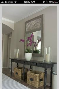 Simple console table decors | Home decor | Pinterest ...