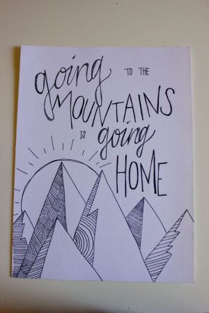 drawing quote drawings quotes mountains quotation draw easy check qoutes sketch doodle really mountain appalachian artsy migration basecampatx paintingvalley
