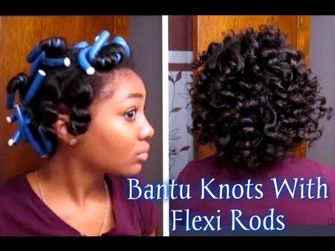short relaxed hair tutorial how i style my short cut youtube hair pinterest knots