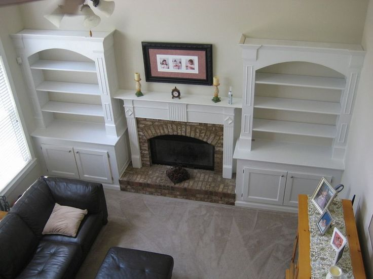 1000+ Ideas About Bookshelves Around Fireplace On