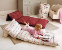 Sew 5 pillow cases together to make a kids floor bed ...