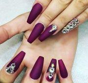 ideas burgundy nail