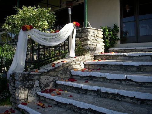 stairway wedding decoration  Google Search  Wedding