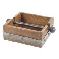 Wood Napkin Holder | Ideas para, Products and Napkins