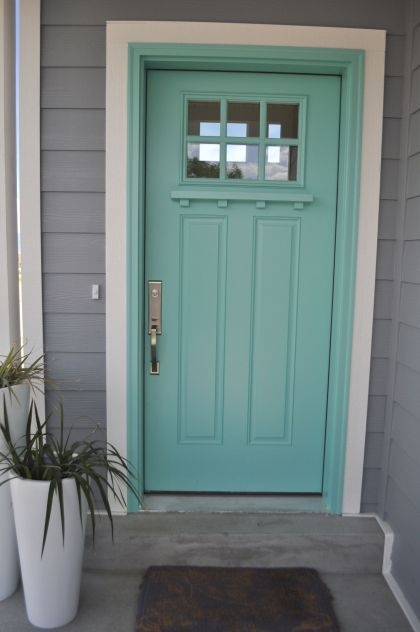 What Are The Best Paint Colours for a Front Door  Turquoise Craftsman and The doors