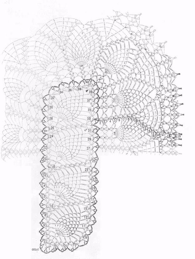 17 Best images about tablecloth crochet pattern/diagram on