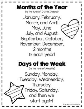 56 best Months and Days of the Week Songs images on Pinterest