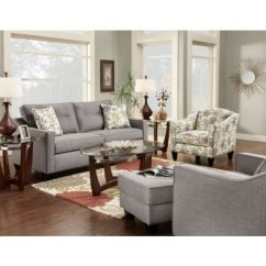 Gray Accent Chairs Set Of 2 Bedroom Chair Comfortable Dallas Sofa And At Hom Furniture | House Pinterest Floral, The O ...