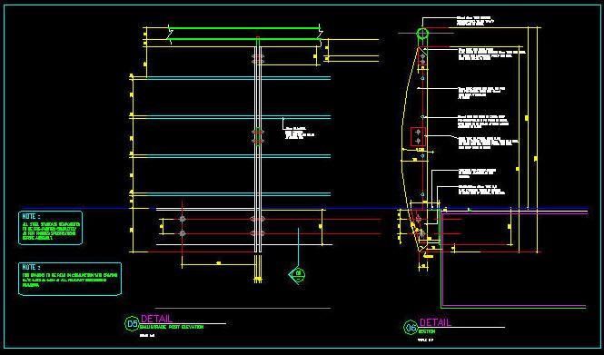 CAD DETAILS  HANDRAIL  BALUSTRADE  STAINLESS STEEL