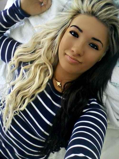 Two toned hair colors black blonde | h a i r ...