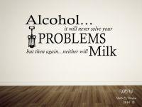 Funny kitchen sayings in vinyl: Alcohol...   Kitchen Vinyl ...